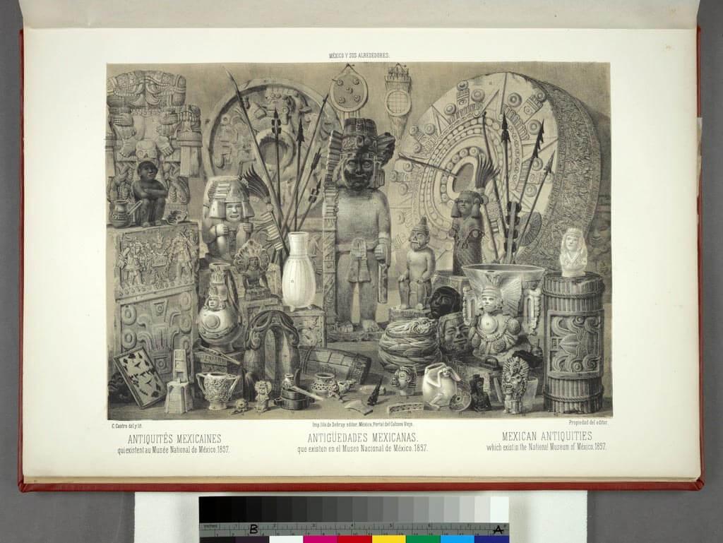 Antigüedades mexicanas que existen en el Museo Nacional de México, 1857