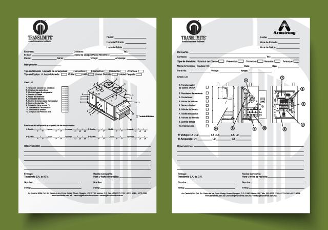 Reporte detallado de mantenimiento de aire acondicionado industrial