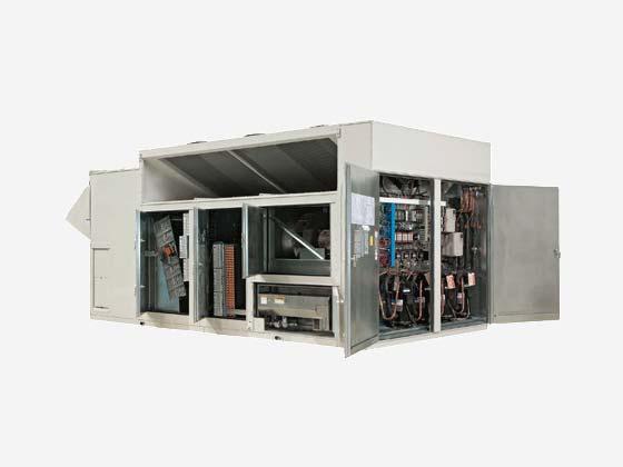 Equipo de aire acondicionado industrial AAON serie RN, abierto
