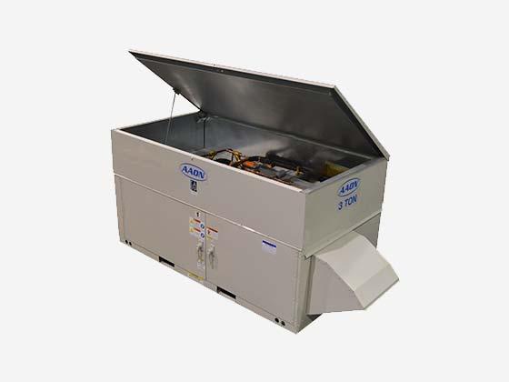 Equipo de aire acondicionado industrial AAON serie RQ, abierto
